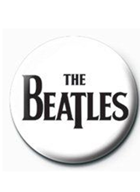 Pyramid International Rozet - The Beatles - Black Logo Renkli